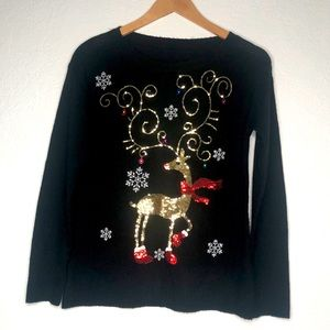 Sweaters - Christmas Ugly Sequin Sweater XS